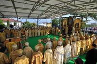 Божественная литургия в Свято-Владимирском соборе Херсонеса