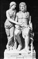 Асклепий и Гигиея. Римская скульптура, мрамор, 1 в.