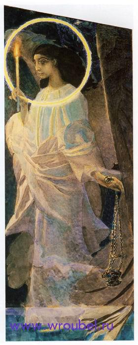 """1887 Врубель М.А. """"Ангел с кадилом и свечой."""""""