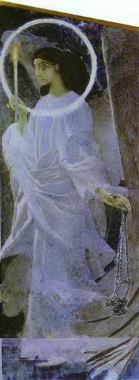 Ангел с кадилом и свечой