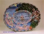 Врубель М.А. Декоративное блюдо Садко. 1899. Майолика, рельеф, цветные глазури. 61х49 (овал). ГРМ