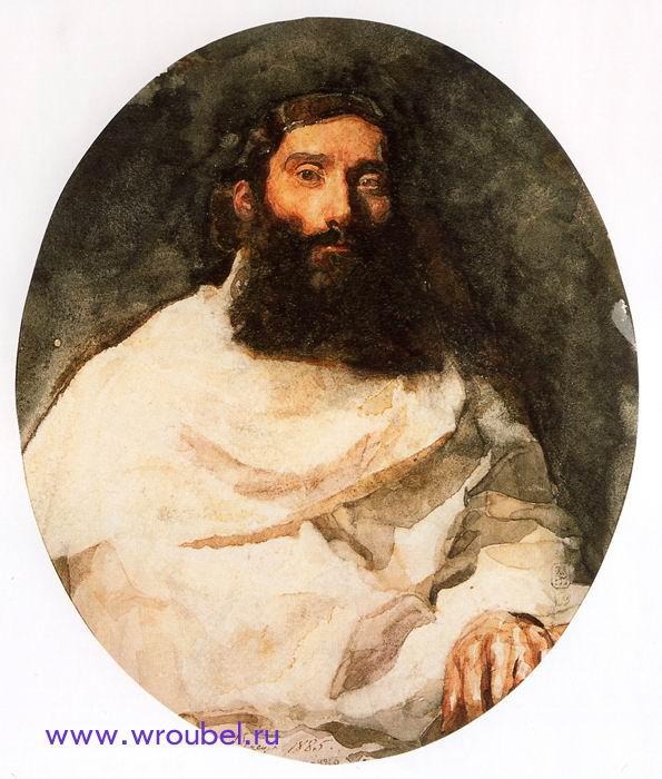 """1885 Врубель М.А. """"Натурщик в белой драпировке."""""""